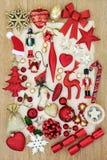 Decorazioni festive di natale Fotografia Stock