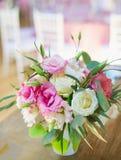 Decorazioni floreali di nozze Fotografie Stock