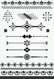 Decorazioni geometriche della pagina Fotografia Stock Libera da Diritti