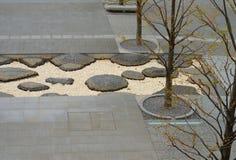 Decorazioni giapponesi del pavimento del parco Fotografie Stock Libere da Diritti
