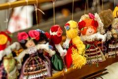 Decorazioni Handmade di natale Fotografia Stock Libera da Diritti