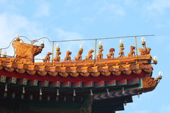 Decorazioni imperiali Pechino del tetto Immagini Stock Libere da Diritti