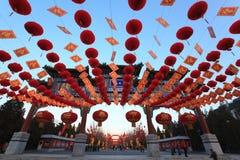 Decorazioni lunari cinesi variopinte di nuovo anno Fotografia Stock