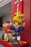 Decorazioni lunari di anno di miagolio Immagini Stock Libere da Diritti