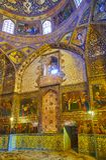 Decorazioni nella chiesa di Betlemme dell'armeno a Ispahan, Iran Fotografie Stock Libere da Diritti