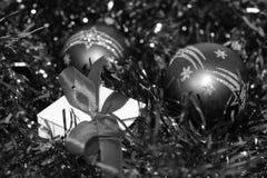 Decorazioni per gli alberi di Natale Immagini Stock Libere da Diritti