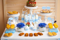 Decorazioni per il compleanno dei bambini Fotografia Stock Libera da Diritti