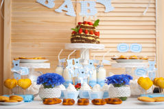 Decorazioni per il compleanno dei bambini Immagini Stock Libere da Diritti