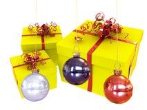Decorazioni per l'albero di Natale Immagine Stock