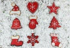 Decorazioni rustiche eleganti misere di Natale Fotografia Stock Libera da Diritti