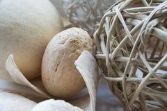 Decorazioni secche con le palle di vimini Fotografia Stock