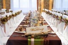 Decorazioni speciali della tavola di nozze Immagini Stock
