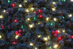 Decorazioni su un albero di Natale Immagine Stock