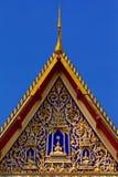Decorazioni tailandesi del tempio di Wat Fotografia Stock