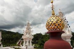Decorazioni tailandesi tradizionali di architettura Immagini Stock