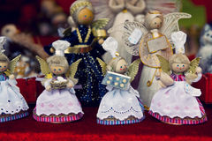 Decorazioni tedesche tradizionali di Natale Immagine Stock Libera da Diritti