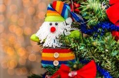 Decorazioni variopinte di Natale Immagini Stock Libere da Diritti