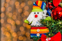Decorazioni variopinte di Natale Fotografia Stock