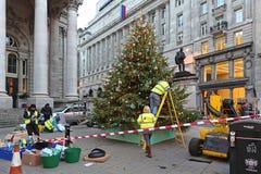 Decore a árvore de Natal Foto de Stock Royalty Free