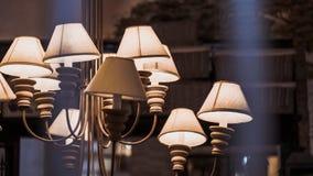 Decore a iluminação da lâmpada de assoalho do brilho fotografia de stock