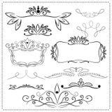 Decorelementen Royalty-vrije Stock Afbeeldingen
