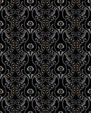 Decoretive damask pattern background Stock Images