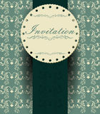 Decoretive invitation card Royalty Free Stock Image