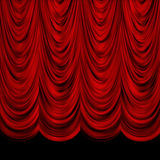 Decoretive Red Curtains Royalty Free Stock Image