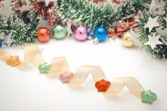 Decori del Natale o nuovo anno o anniversario, ecc Stile dolce e morbido di tono nel tono d'annata Fotografia Stock Libera da Diritti