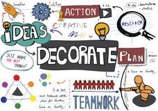 Decori il concetto di tendenze di progettazione di stile della decorazione illustrazione di stock