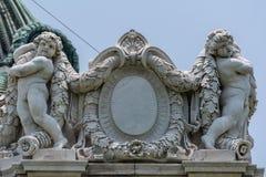 Decortions przy wschodnią kopułą Ananta Samakhom tron Hall Ananta Samakhom Tronowy Hall jest ważnym atrakcją turystyczną Obraz Royalty Free