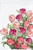 decoupage的照片装饰了花纹花样 免版税库存图片