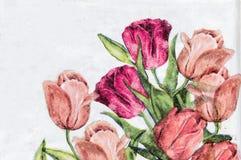 decoupage的照片装饰了花纹花样 库存图片