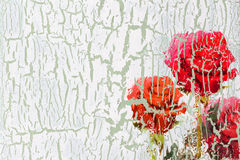 Decoupage blommabakgrund Royaltyfria Bilder