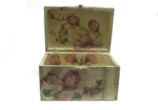 Decoupage box Stock Photography