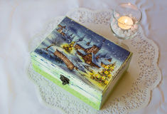 Decoupage box Stock Images