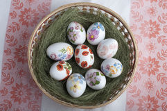 Decoupage eggs Royalty Free Stock Photo