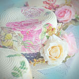 Decoupage hats in vintage style. Stock Photography