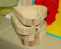 Decoupage hecho a mano - productos de madera imagen de archivo