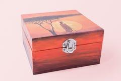 Decoupaged pudełko Zdjęcie Stock