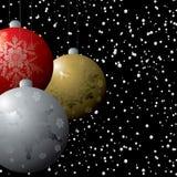 Decovlaag van Kerstmis stock illustratie