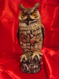 Decoy Owl. Close up of a large Decoy Owl royalty free stock images