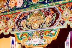 Decrations no templo de DangQiong Fotografia de Stock Royalty Free