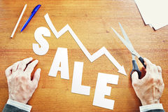 Decrease of sales. Abstract conceptual image Royalty Free Stock Photo