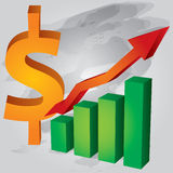 Decrease in US Dollar Stock Image