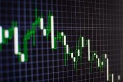 Decreasing bar graph Stock Photography