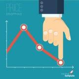 Decreasing business graph Royalty Free Stock Photo