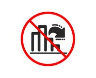 Decreasing graph icon. Column chart sign. Vector. No or Stop. Decreasing graph icon. Column chart sign. Market analytics symbol. Prohibited ban stop symbol. No stock illustration