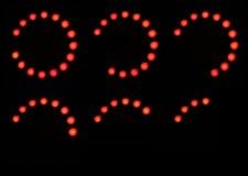 Decreasing led lights Stock Image