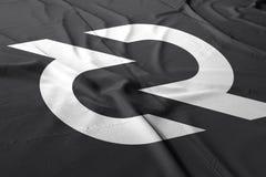 Decred DCR-cryptocurrency 3d att framföra flaggan stock illustrationer